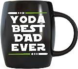 Yoda Best Dad Ever 父の日ギフト お父さんへの面白いセラミックノベルティギャグ 娘 息子の妻からのギフト クリスマス誕生日 コーヒーマグ ティーカップ