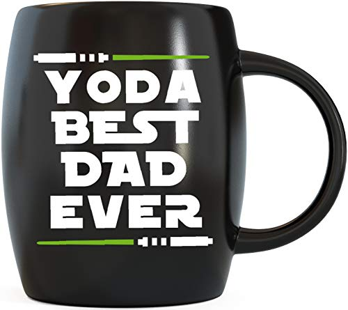 MUG A DAY 16oz Yoda Best Dad Ever Father's Day Gifts for Dads Funny Ceramic Novelty Gag Gift from Daughter Son Wife Mrs Spouse for Christmas Birthday Coffee Mug Tea Cup