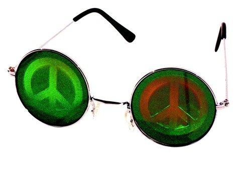 Generique - Lunettes Métal Rondes avec Hologramme Hippie