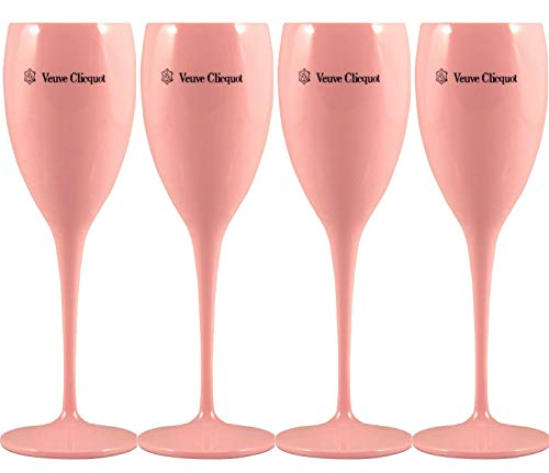 Veuve Clicquot Acryl Flutes Cup Ice Champagner Imperial 4 STÜCK (Pink)