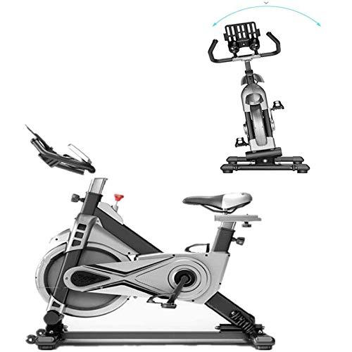RJJBYY Diseño Oscilante Bicicleta De Ciclismo para Interiores Bicicleta De Ejercicio Estacionaria, Ejercicio De Transmisión por Correa, Brinda Soporte, Tamaño Ajustable, Paseo En Columpio