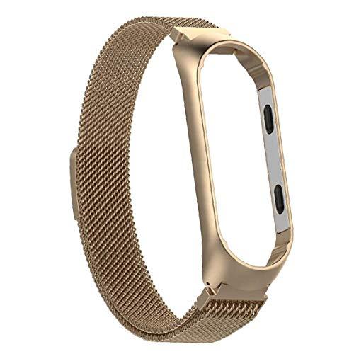 Ver Banda magnética inoxidable de malla de acero correa de reloj adapta Mi Banda 3 de Oro, Casa y jardín