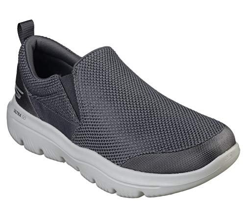Skechers Men's Go Walk Evolution Ultra-impec Slip On Trainers, Grey (Charcoal Textile Charcoal), 7.5 UK (42 EU)