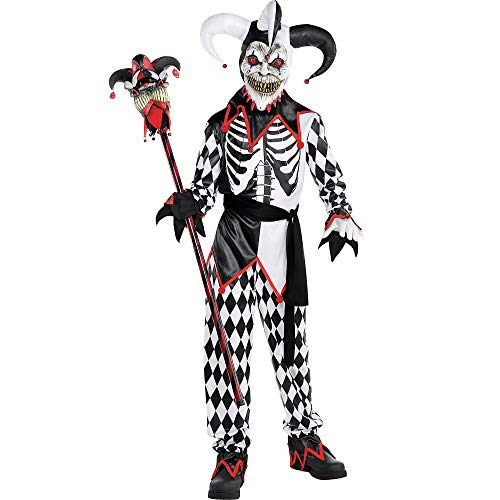 AMSCAN Sinister Jester Halloween Costume for Boys, Extra Large, with...