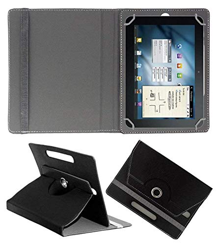 "Hello Zone 360° Rotating 7"" Inch Flip Case Cover Book Cover for Karbonn A34 HD Tablet  -Black"