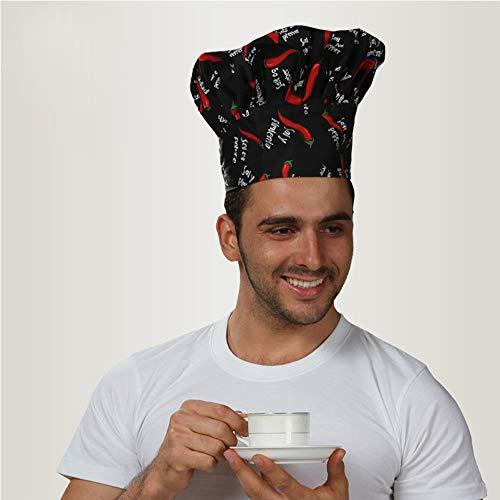 FHFF Koksmuts, uniseks, Fold Cap Chef Hat Chef-hoedje, hoge chef, kelnmuts, restaurant voor volwassenen, eenheidsmaat