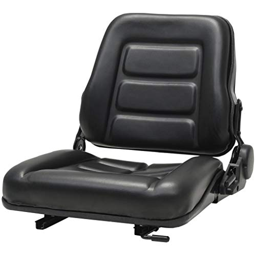 vidaXL Gabelstaplersitz Verstellbare Rückenlehne Traktorsitz Schleppersitz