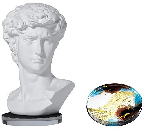 LAGOM HOUSE Greek Statue of David Head, Greek David Bust Statue Sculpture Figurine Michelangelo Replica, Roman Greek Mythology Decor for Home /Office /Wedding /Party, David Statue 6 Inch