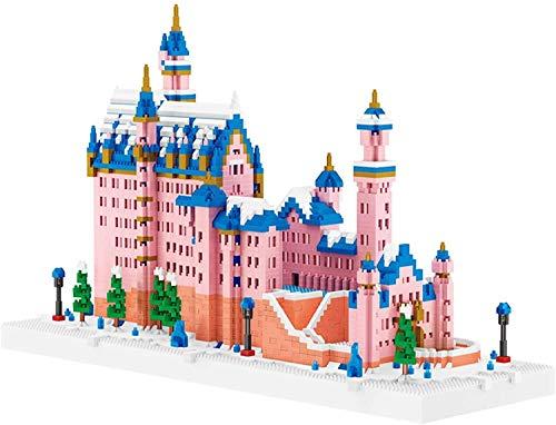 J&X Pink Swan Lake Castle DIY Juguete Micro Mini Blocks Serie Modelo Conjunto de Edificios, Regalo de cumpleaños, Recompensas de la Escuela para Adultos y niños 6392PCS