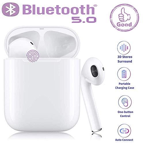 Bluetooth-Kopfhörer5.0,kabellose Touch-Kopfhörer HiFi-Kopfhörer In-Ear-Kopfhörer Rauschunterdrückungskopfhörer,Tragbare Sport-Bluetooth-Funkkopfhörer,Für Airpods Android/IOS/Samsung