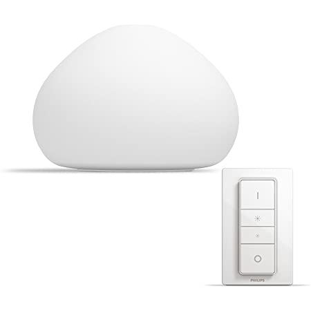 Philips Hue Wellner White Ambiance Smart Table Light LED with Dimmer Switch, Works with Alexa, Google Assistant and Apple HomeKit