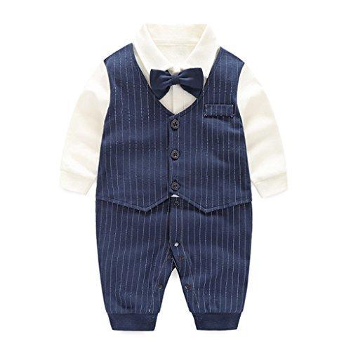 Vine Trading Co.,Ltd Strampler Baby Onesie Spielanzug Baumwolle Langarm Outfits Taufbekleidung Jungen (âge 0-18 Monate) Vine