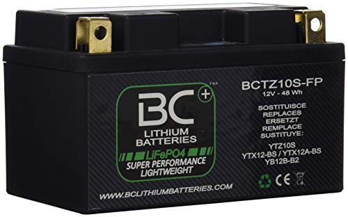 BC Lithium Batteries BCTZ10S-FP Motorrad Lithiumbatterie LiFePO4  YTZ10S YTX12-BS / YTX12A-BS YB12B-B2