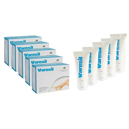 Varices - 5 Varesil Pills + 5 Varesil Cream: Pilules et Crème pour prévenir et soulager les varices