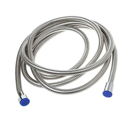 JOYKK 3m Edelstahl-Flexibler Brauseschlauch Badwarmwasserschlauch Schlauch ersetzen - Silber