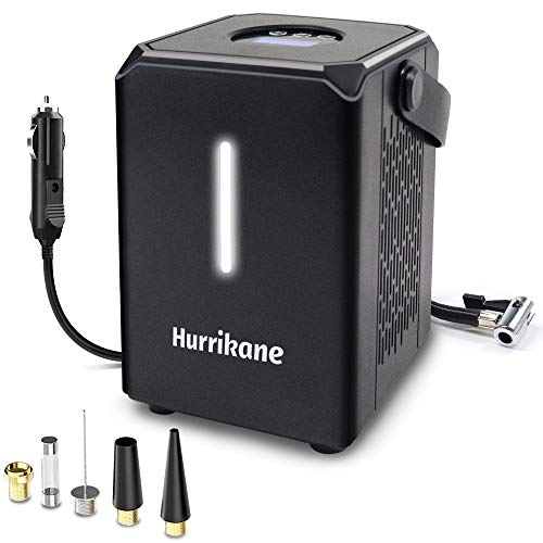 Portable Air Compressor for Car Tires, 6000mAh DC 12V Air Compressor Tire Inflator, Rechargeable Tire Pump with LED Light, Digital Air Pump for Car Tires, Bicycle Father's Day