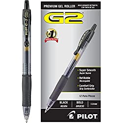 Pilot G2 Retractable Gel Ink Roller Ball Pen Bold Point - Best Pens for Writing