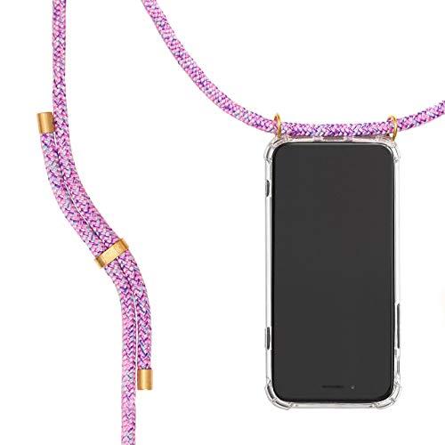 KNOK Funda con Cuerda para Huawei P20 Pro - Funda Colgante para movil Carcasa - Colgar movil Cuello Funda con Correa Colgante con Cordon para Llevar en el Cuello