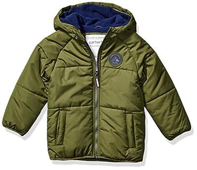 Carter's Boys' Toddler Adventure Bubble Jacket, Little Scout/Current Navy, 4T