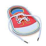 Giocattolo per scarpe con allacciatura in legno, Impara a legare i lacci Infilare i giocattoli educativi per le abilità motorie, Scarpe con lacci Gioco da tavolo educativo precoce per bambini Toddler