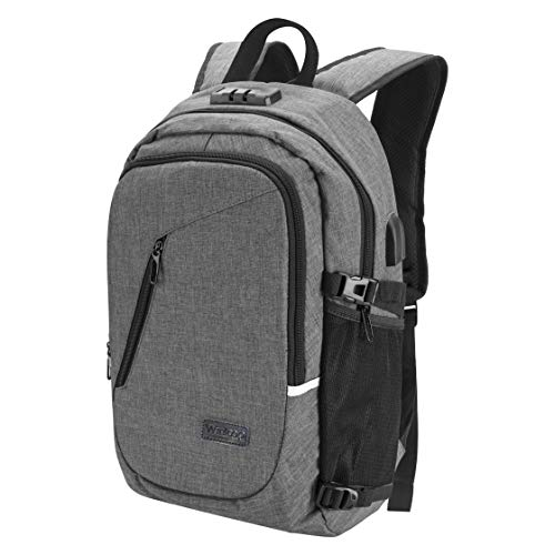 Winloop 30L Oxford Cloth Water Repellent USB Charging Port &Headphone Interface Anti-theft School Outdoor Hiking Camping Travel Laptop Backpack Rucksack Daypack knapsack with Reflective Strip(Grey)