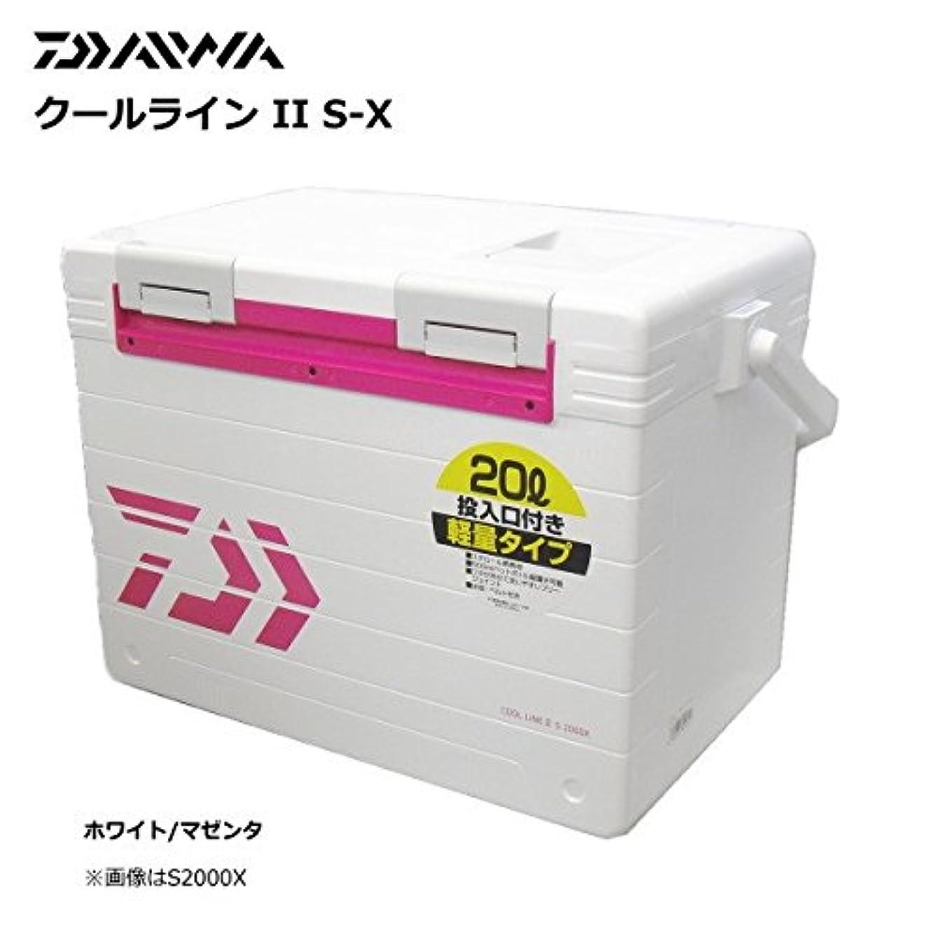 食堂特に罪人ダイワ(Daiwa) クーラーボックス 釣り クーラー クールラインII S2000X ホワイト/マゼンタ