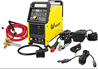 Weldpro Digital TIG200GD ACDC 200 Amp Tig/Stick Welder with Pulse CK 17 Worldwide Superflex Torch/with Trigger Switch Dual Voltage 220V/110V Welding Machine