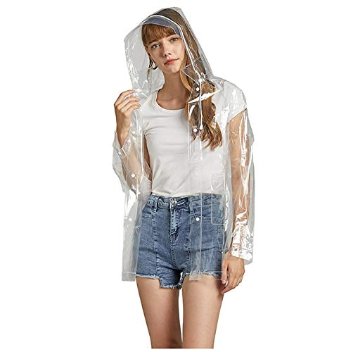 QWEASD Mode Transparante Regenjas Volwassen Wandelen Buiten Vissen Regenjas EVA Plastic Milieubescherming Regenjas