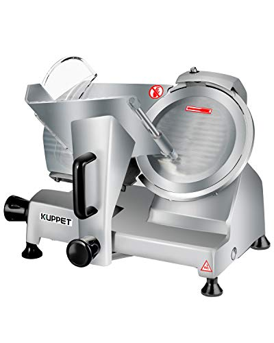 Meat Slicer, Kuppet Electric Food Slicer, Removable 8'' Stainless Steel Blade and Food Carriage, Deli Food Slice Adjustable Thickness Food...