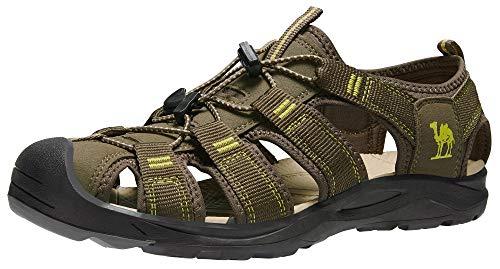 CAMEL CROWN Trekkingsandalen Herren Outdoor Sandalen Wasserfest Wandersandalen Sommer Leichte Geschlossene Sandale für Reisen Wandern