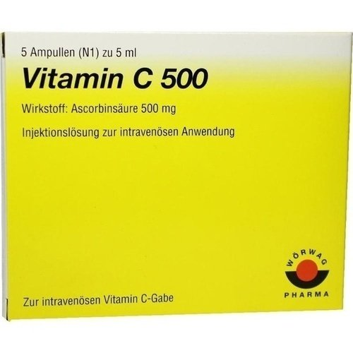 VITAMIN C 500 Ampullen,25ml