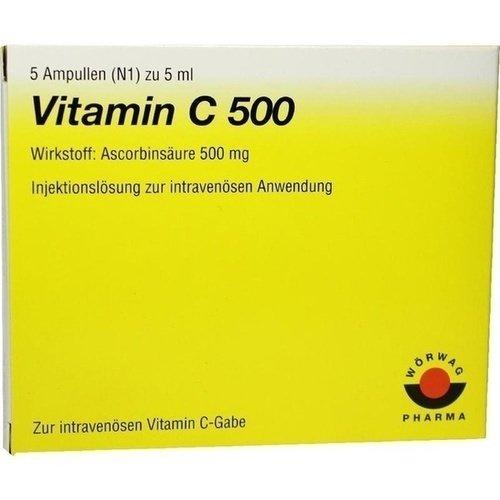 VITAMIN C 500 Ampullen,25ml