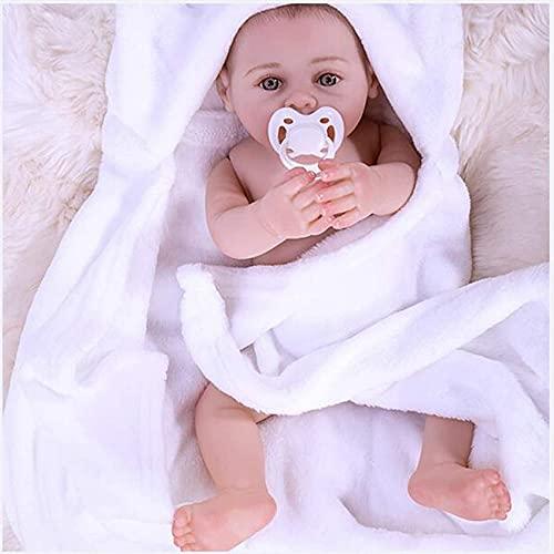 LXTIN Muñecas recién Nacidas, muñecas realistas Hechas a Mano, muñecas con los Ojos Abiertos, Son Regalos de cumpleaños para niños (17 Pulgadas 43 cm)