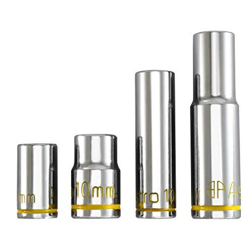 Astro Pneumatic Tool 410 - Uv Glowing 10mm Sockets 1/4' & 3/8' Drive - 4Piece