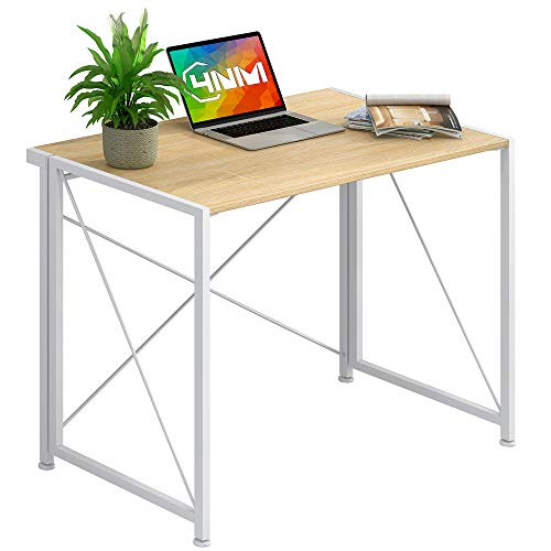4NM No-Assembly Folding Writing Desk Small Computer Desk Laptop Table Compact Home Office Desk Study...
