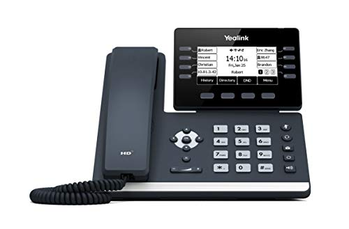 Yealink T53W IP Phone, 12 VoIP Accounts. 3.7-Inch Graphical Display. USB 2.0, 802.11ac Wi-Fi, Dual-Port Gigabit Ethernet, 802.3af PoE, Power Adapter Not Included (SIP-T53W)