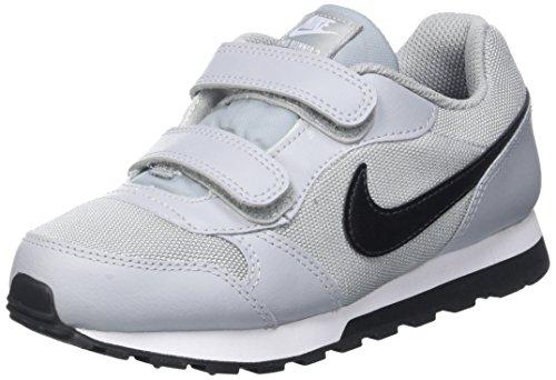 Nike Jungen MD Runner 2 (PSV) Low-Top, Grau (Wolf Grey/Blk-TTL Crmsn-White), 32 EU
