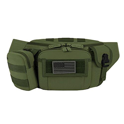 East West U.S.A Unisex-Erwachsene Tactical Waist Fanny Packs Gürteltasche, olivgrün, 14