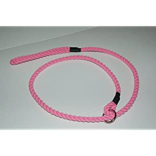 4 Dogs Only! Rope Lead Slip on for small dogs (Pink)