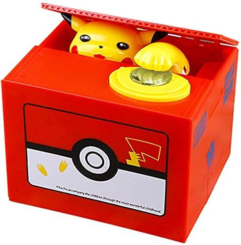 Gddg Pokemon Anime Electronic Tirelire Pièces de vol Piggy Banque Silver Coffre-Fort pour Cadeau d'anniversaire Decor Figurine 11 5/9 5/9 cm