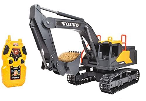 Dickie Toys – ferngesteuerter Bagger – 2.4 GHz RC Bagger, für Draußen, mit Licht- und Soundeffekten, Baustellenspielzeug, für Kinder ab 3 Jahren