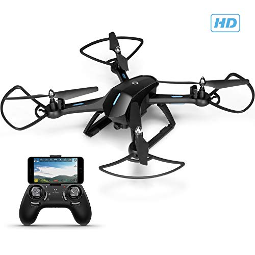 Image of the Amcrest A6-B Skyview Pro RC WiFi Drone with Camera HD FPV Quadcopter Video Drone with Camera for Adults, 2.4ghz WiFi Helicopter w/Remote Control, Stunt Flip, Headless Mode, Smartphone (Black)