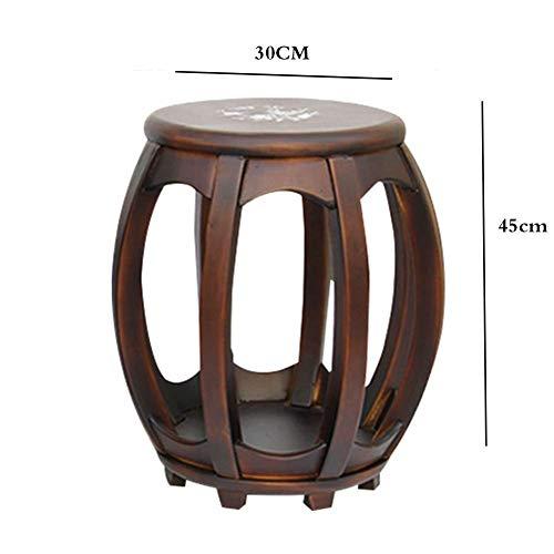 WWWWW-DENG barkruk slaapkamer padded kaptafel kruk dresser vanity kruk cream (kleur: nanmu grootte: 30 * 45cm) barkruk