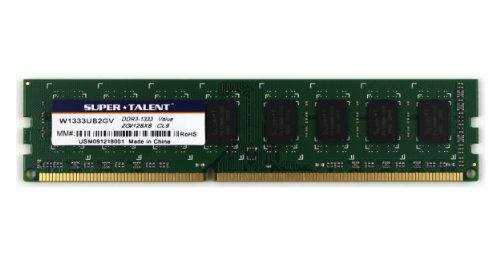 Super Talent DDR3-1333 2GB/128x8 CL9 Value Memory W1333UB2GV