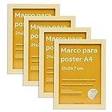 Nacnic Set de 4 Marcos Madera Clara tamaño A4(21x29.7cm). Marco de Color Light Wood
