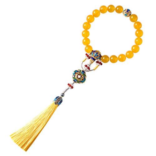NQFL Pulsera Pulsera De ágata Tibetana Pulsera De Cuerda De La Suerte Ajustable para Mujeres Y Hombres