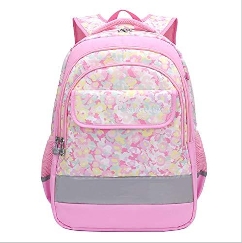ZHAOYONGBING Children Backpack,Oxford Fabric, Cartoon, Light, Comfortable, Ridge Protector, Schoolbag, Children Shoulder Bag. Pink-Small (Grades 1-2)