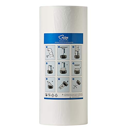 Ricarica mangiapannolini con trattamento antiodore EVOH compatibile con Twist & Click, compatibile con Maialino, CONFEZIONE DA 200m (200m senza tubo)