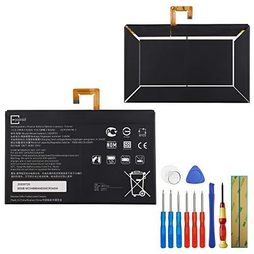 E-yiiviil Batería de repuesto L14D2P31 compatible con Lenovo Tab 2 A10-70 Tab 2 A10-70F Tab2 X30F con herramientas
