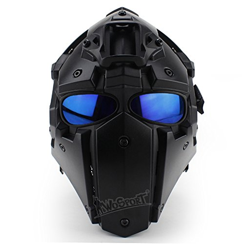 N/W Tactical Airsoft Full Face Protective Goggles Terminator Casco con 4 Pares...